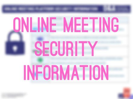 Online meeting security info image